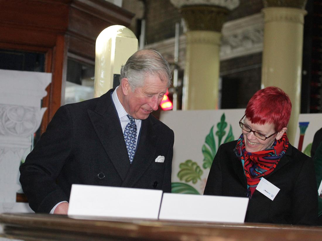 Prince Charles with artist Saskia Huning
